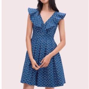 Kate Spade Geo Dot Poplin Dress 10